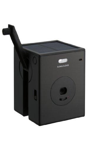 【新商品】世界初!自給自足でバッテリーチャージするデジタルカメラ「SUN&CLOUD」(サンアンドクラウド)【黒】 デジタルカメラ