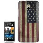 Retro US Flag Pattern Plastic Case for HTC One mini / M4