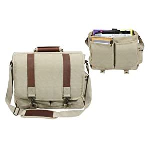 Rothco Leather and Canvas Pathfinder Laptop Bag - In Your Choice of Colors