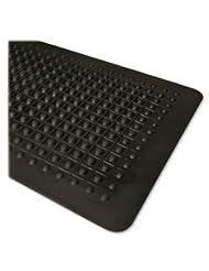 Genuine Joe Anti Fatigue Mat, Beveled Edge, 2 by 3-Feet, Black