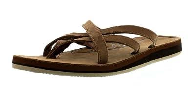 Teva Women's Olowahu Leather W Sandal,Bison,5 M US