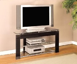 Cheap Black TV Stands with Tempered Glass (B0017LSFQM)
