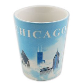 City of Chicago Cloud Shot Glass