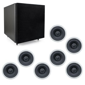 Smarthome Select 7.1-Channel Speaker Kit - Classic In-Ceiling Speakers With Subwoofer - 8200171