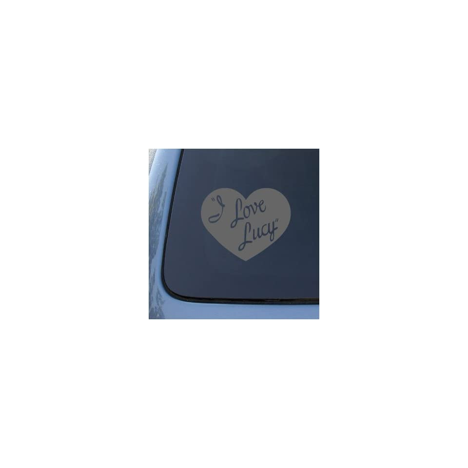 I LOVE LUCY   Lucille Ball   Vinyl Car Decal Sticker #1799  Vinyl Color Silver
