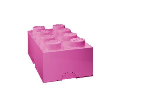 LEGO Storage Brick 8, Bright Pink (Pink Storage compare prices)