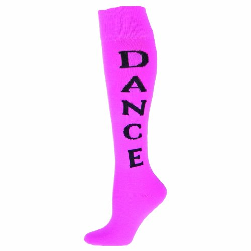 Red Lion Dance Urban Word Printed Sport Athlete Sock (Pale Pink /Black - Medium