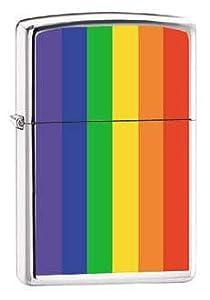 Zippo Lighter - Gay Lesbian Rainbow Pride Flag