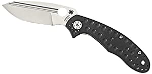 Spyderco Schempp Tuff G-10 Plain Edge Knife, Black