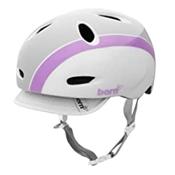 Bern 2012 Women's Berkeley Bomber Summer Bike Helmet (Gloss White/Purple Bomber with Visor - XS) from Zappos - FBZ setup