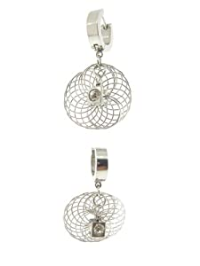 Hypoallergenic Non Tarnishing Stainless Steel Hinged Snapback Earrings with Posts and Stoppers