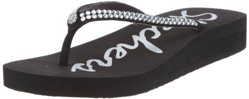 Skechers Women's Beach Read Thong Sandal 37901 Black 7