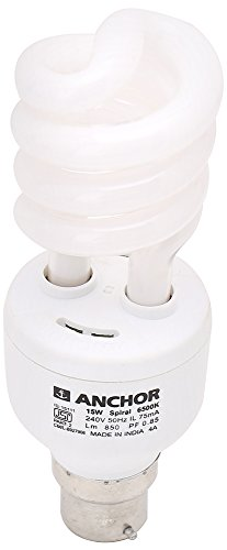 Anchor 15W Spiral CFL Bulb (White)