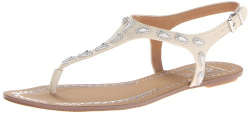 Dv By Dolce Vita Women'S Avina Sandal,Bone Leather,8 M Us
