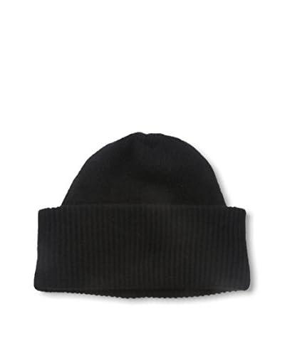 Portolano Men's Cashmere Beanie, Black
