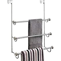 York Metal Over Shower Door Towel Rack (Chrome)