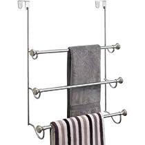York Metal Over Shower Door Towel Rack (Chrome)
