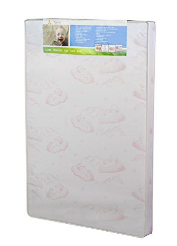 Dream On Me Baby Trend Nursery Center Foam Mattress with Square Corner, Cloud Pink, 3""