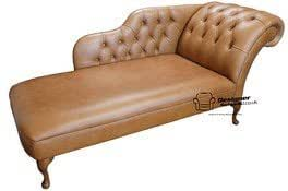 Chesterfield Leather Chaise Lounge Day Bed