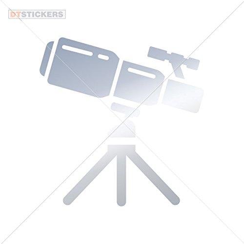Sticker Telescope Icon durable Boat (10 X 9,74 Inches) Metallic Chrome Mirror