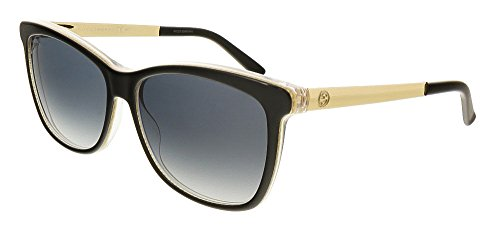 Gucci Sunglasses - 3675 / Frame: Black Embossed Gold Lens: Gray Gradient