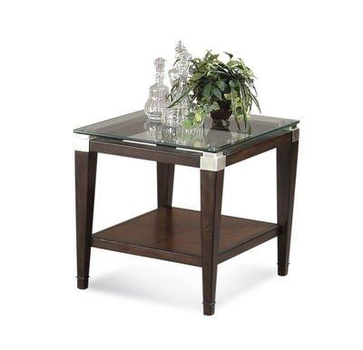 Cheap Bassett Mirror Co. Dunhill Oak & Parquet End Table – T1171-200 (T1171-200)