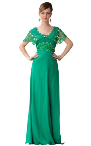 Kingmalls Womens floor length green new sexy evening Gowns Prom Celebrity Party Dresses