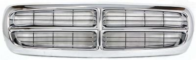 Evan-Fischer EVA17772011889 Grille Assembly Grill Chrome Plastic shell and Black insert (1998 Dodge Dakota Grill compare prices)
