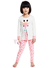 Pure Cotton Giraffe Pyjamas with Toy
