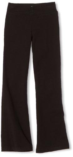 Danskin Little Girls' Shirred Waist Bootleg Pant, Black, Intermediate  (6x-7) (Danskin Girls Pants compare prices)