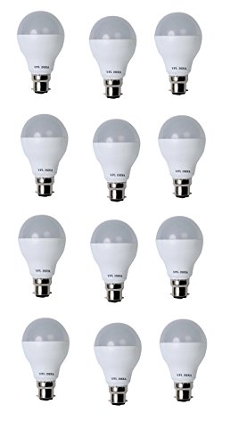 9 Watt LED Bulb (White, Pack of 12)