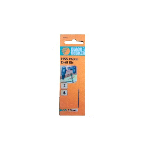 B&D 1.5MM Metal Drill Bit (Black And Decker Metal Cutter compare prices)