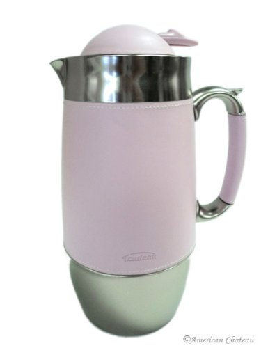 Stainless Steel Thermal Coffee Carafe with Pink Sleeve