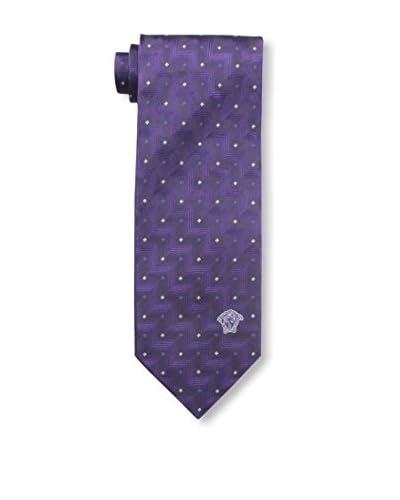 Versace Men's Silk Tie, Black/Purple