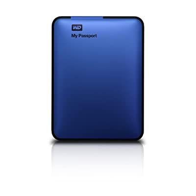 WD My Passport 1TB Portable External Hard Drive Storage USB 3.0 Blue (WDBBEP0010BBL-NESN)