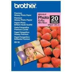 Brother BP61GLP 4in x 6in High Gloss Inkjet Paper (20 sheets) - Retail Packaging