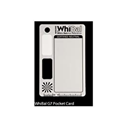 Genuine Whibal G7 Certified Neutral White Balance Pocket Card (2.1\