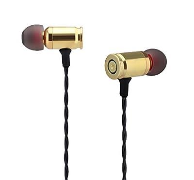 "2016 GREENPOINTSELECT Premium Genuine bullet ""Lifetime Warranty"" Full Metal Housing Dual Driver Deep Heavy Bass Handmade Braid In-ear Noise-isolating Headphones with Universal Mic --4 ALL SMARTPHONES"