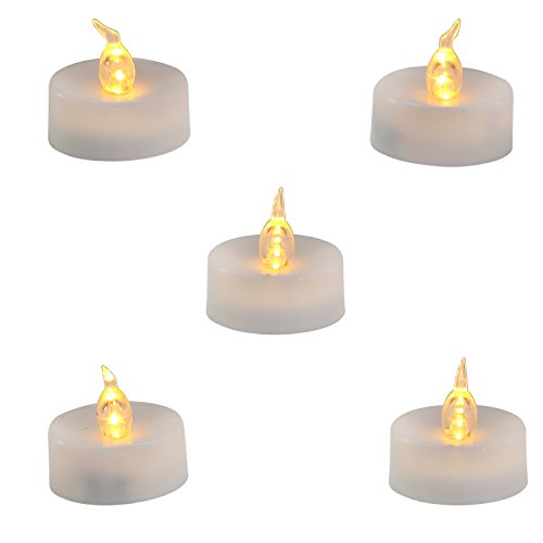Homemory LED Flameless Fake Tea Light Candle, Amber Yellow Flickering Bulb, Pack of 12 Battery Operated Electric votive candle, Dia 1.4 Inch, Realistic and Bright effect for Party, Wedding (Electric Candles Battery Operated compare prices)