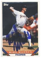 Mike Maddux San Diego Padres 1993 Topps Autographed Hand Signed Trading Card. by Hall+of+Fame+Memorabilia
