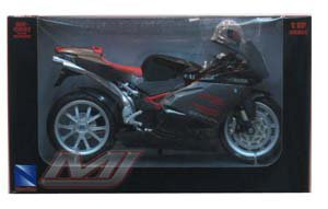 Motor N.R. MV Agusta F4 Senna 2006 (Black) 1:12 Diecast Motorcycle Model