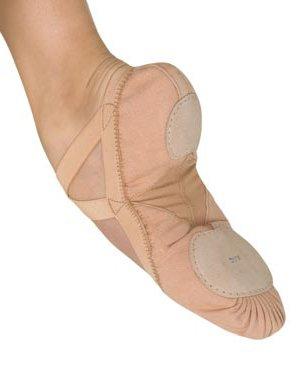 BLOCH Damen Pro Elastic Ballettschläppchen mit geteilter Ledersohle