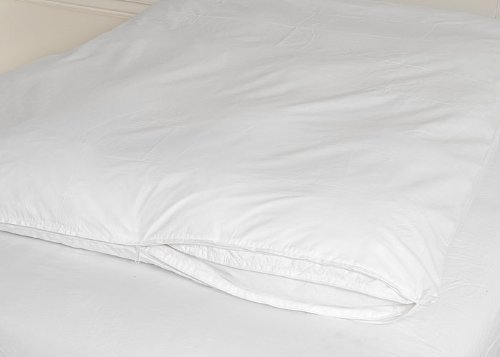Discover Bargain Feather Bed Cover White Double