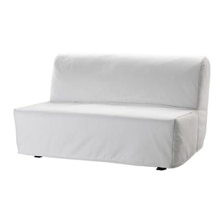 IKEA LYCKSELE - cubierta sofá-cama de dos asientos, blanco Ransta
