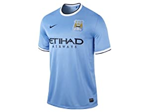 Nike 2013/14 Manchester City Home Soccer Replica Jersey (S)