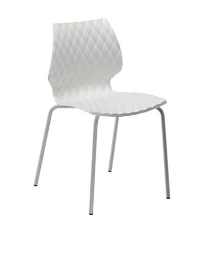 Metalmobil stoel set van 4 Uni - 550 wit / grijs