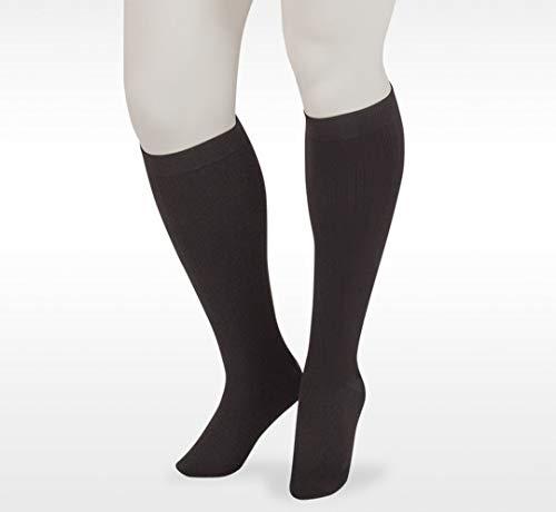 Juzo Dynamic Cotton Men's Closed Toe 20-30mmhg Compression Sock (Color: Black, Tamaño: 3 (III) Regular)