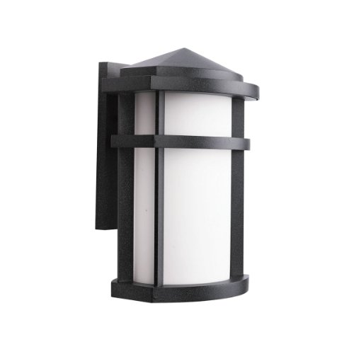 Kichler Lighting 11068GNT Lantana 1-Light Fluorescent Outdoor Wall Mount Lantern, Granite with Etched Opal Glass