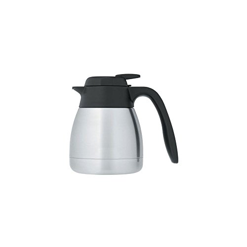 Thermos S/S 20 Oz Tabletop Vacuum Carafe with Push Button Lid
