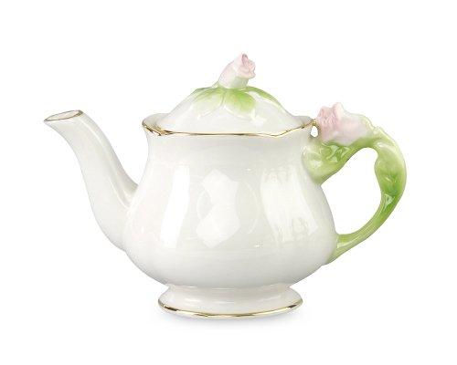 Gracie China 9-Ounce Porcelain Hand Painted Rose Bud Tea Pot